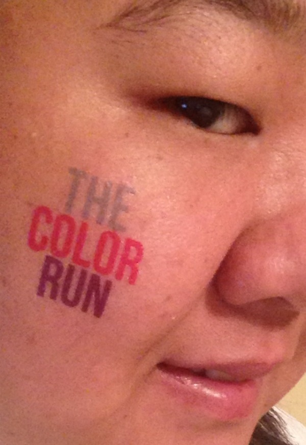 The Color Run temporary tattoo