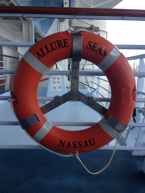 Allure of the Seas liferaft