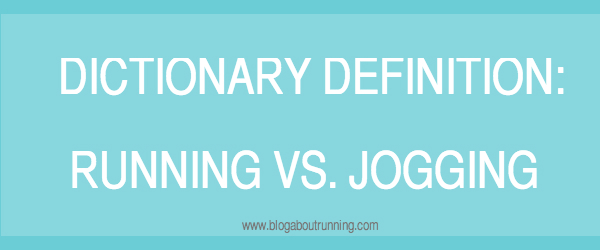 running vs. jogging definitions