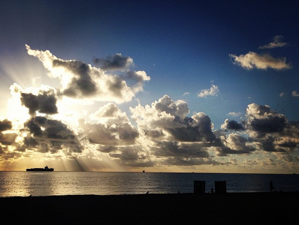 Fort Lauderdale Beach at Sunrise