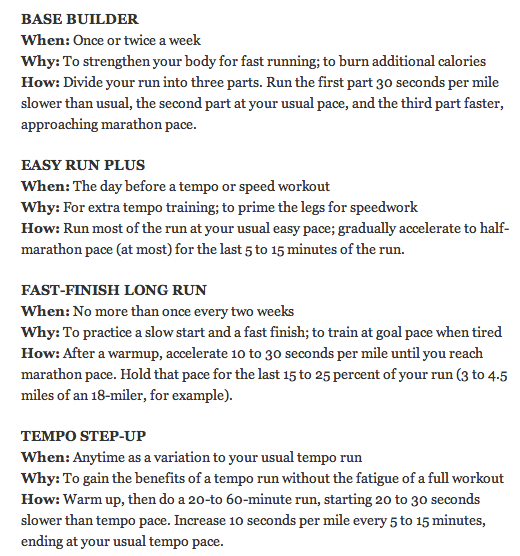 progression run workouts