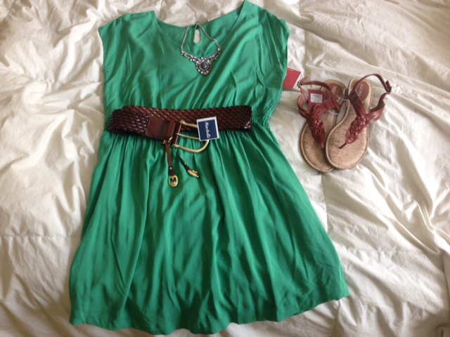 green spring dress