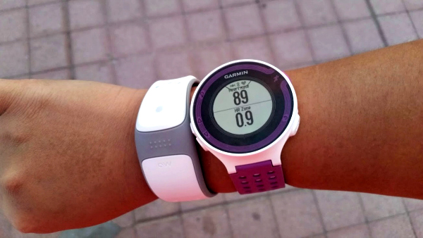 After a short brisk walk. The white band is my Mio LINK heart rate band. Got it on Amazon for $65.